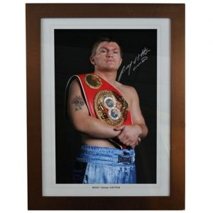 Ricky Hatton Framed Signed Photo