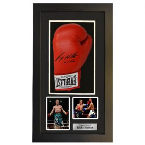 Ricky Hatton Framed Signed Glove