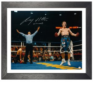 Ricky Hatton Framed Signed Photo – Jose Castillo KO