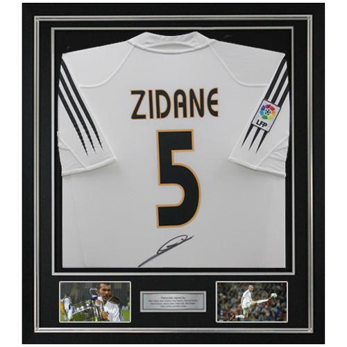 1e852b61b Zinedine Zidane Framed Signed Real Madrid Shirt
