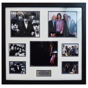 Ronnie Wood Framed Signed Display