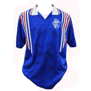 Rangers 9x League Champions Multi Signed Shirt by 12