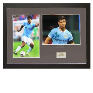 Sergio Aguero Framed Signed Photo