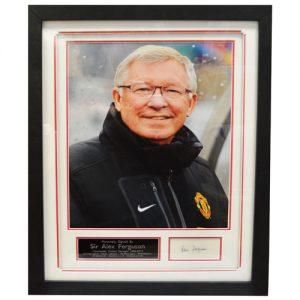 Sir Alex Ferguson Framed Signed Display
