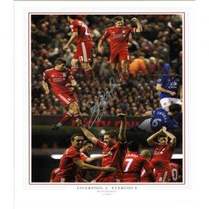 Steven Gerrard Framed Signed Photo