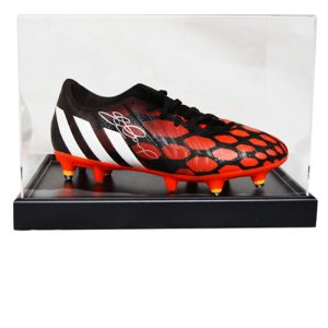 Steven Gerrard Signed Football Boot in an Acrylic Case