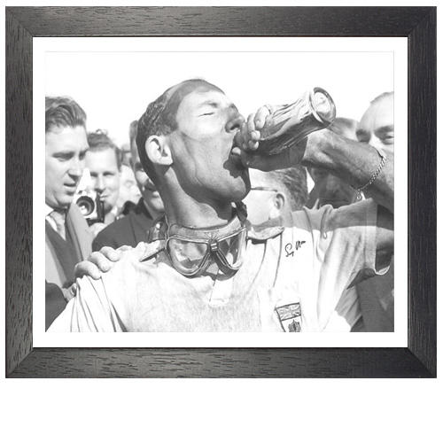 Stirling Moss Framed Signed Photo