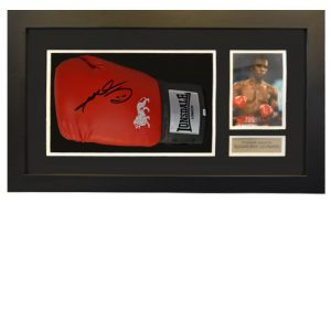 Sugar Ray Leonard Framed Signed Glove
