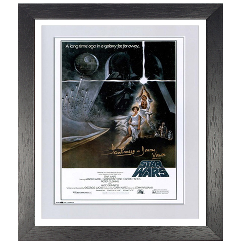 Star Wars Framed Poster signed by Dave Prowse (A New Hope)