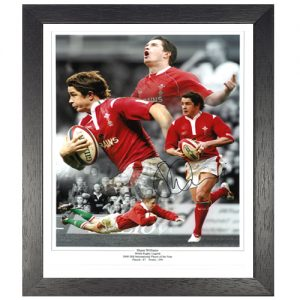 Shane Williams Framed Signed Photo Montage