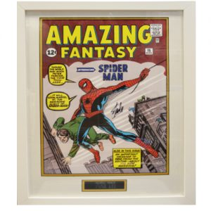 Spider-Man Framed Amazing Fantasy Print signed by Stan Lee