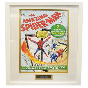 Spider-Man Framed Issue 1 Print signed by Stan Lee
