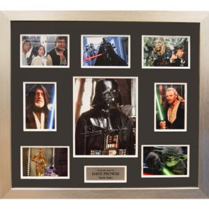 Dave Prowse Framed Signed Star Wars Display