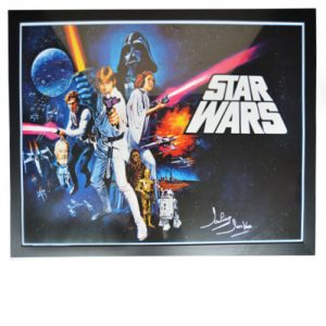 Star Wars Framed Film Poster signed by Dave Prowse