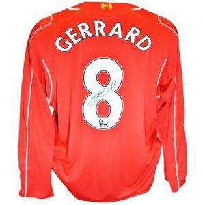 Steven Gerrard Signed Liverpool Shirt (2014/2015)