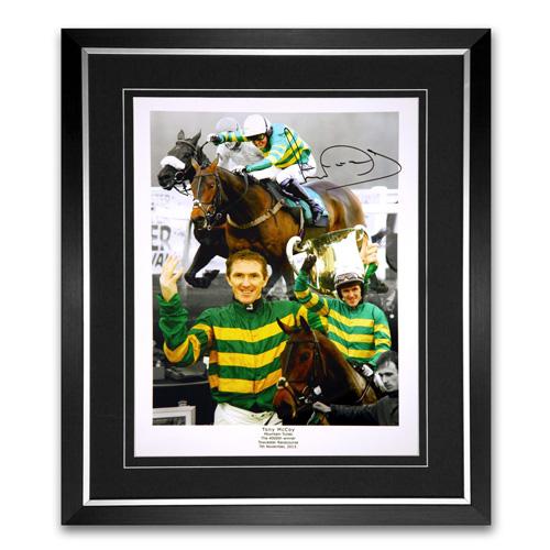 Tony McCoy Framed Signed Horse Racing Photo Montage