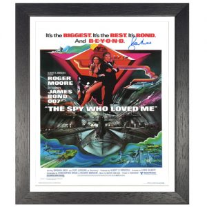 "Roger Moore Framed Signed James Bond Poster – ""The Spy Who Loved Me"""