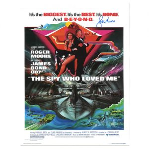 "Roger Moore Signed James Bond Poster – ""The Spy Who Loved Me"""
