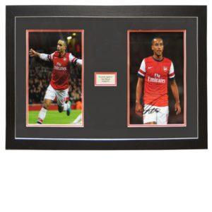 Theo Walcott Framed Signed Photo