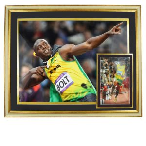 Usain Bolt Framed Signed Display