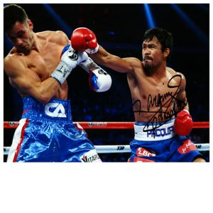 Manny Pacquiao Signed Photo Vs Chris Algieri