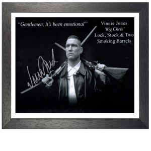 Vinnie Jones Framed Signed Lock, Stock and Two Smoking Barrels Photo