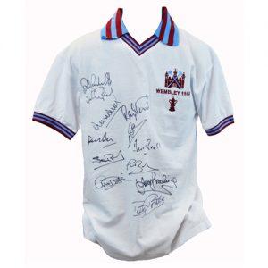 West Ham 1980 Retro Shirt signed by 12