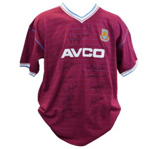 West Ham 1986 Shirt signed by 12