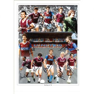 West Ham 1986 Photo signed by 12