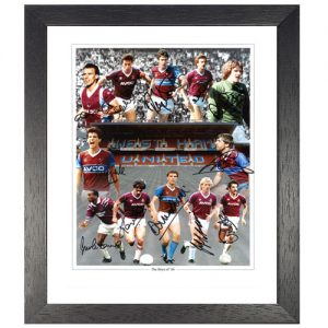 West Ham 1986 Framed Photo signed by 12