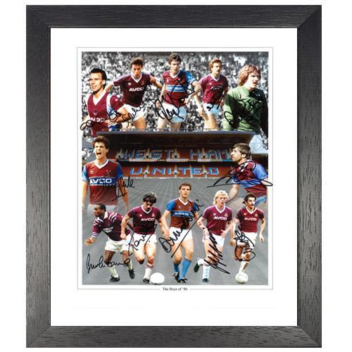West Ham 1986 Framed Photo signed by 12