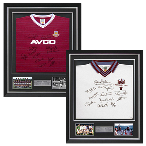 West Ham 1980 & 1986 Deluxe Framed Signed Shirts Dual Pack