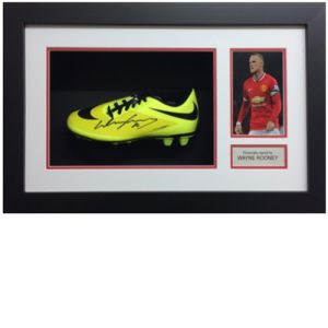 Wayne Rooney Framed Signed Football Boot