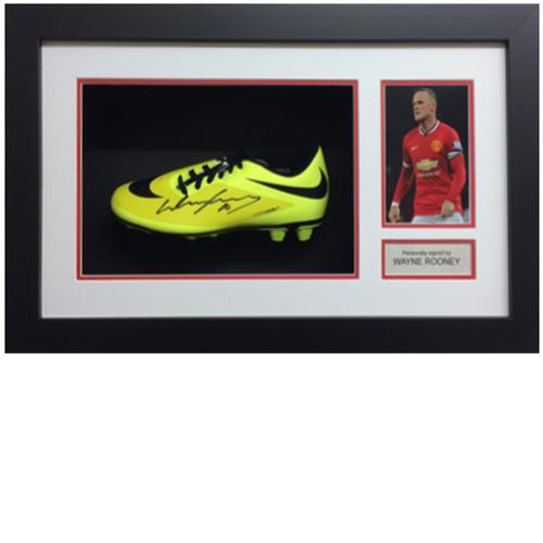 Wayne Rooney Framed Signed Football Boot