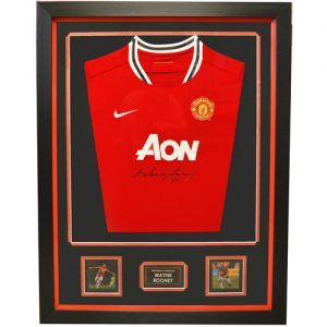 Wayne Rooney Framed Front Signed Manchester United Shirt
