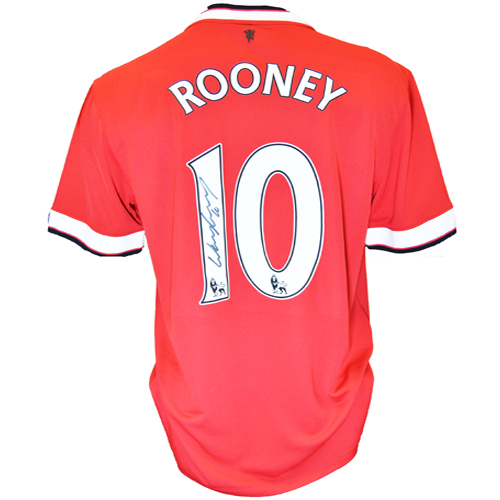 Wayne Rooney Signed Manchester United Shirt