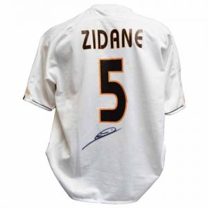 Zinedine Zidane Signed Real Madrid Shirt