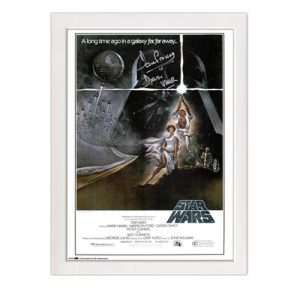 Star Wars Poster signed by Dave Prowse