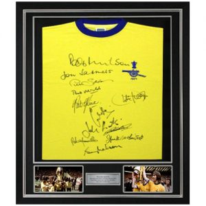 Arsenal 1971 Deluxe Framed Away Shirt signed by 12