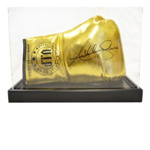 Anthony Joshua Signed Glove in an Acrylic Case (Red Everlast)