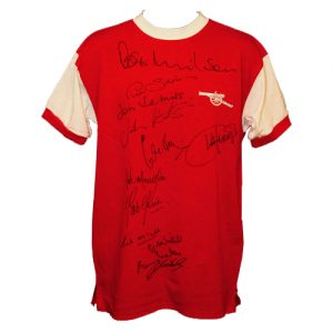Arsenal 1971 Home Shirt signed by 12
