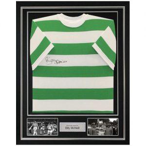 Billy McNeill Deluxe Framed Signed Celtic Shirt