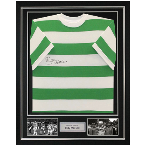 Billy McNeill Deluxe Framed Signed Celtic Shirt