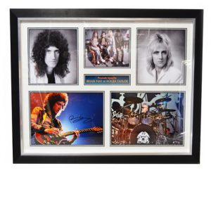Brian May & Roger Taylor Signed Display
