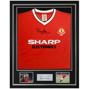 Bryan Robson Deluxe Framed Signed 1983 FA Cup Shirt