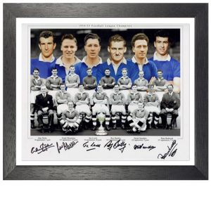 Chelsea Framed 1954-55 Team Signed Photo