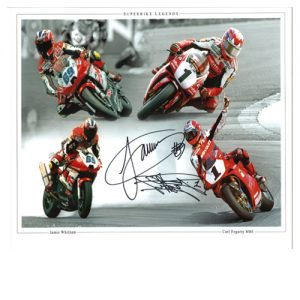 Carl Fogarty & Jamie Witham Dual Signed Photo Montage