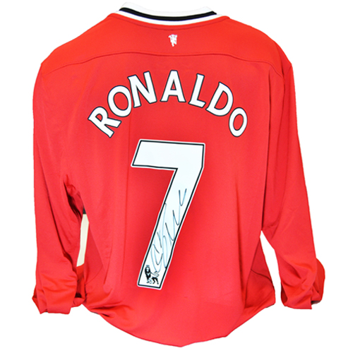 sports shoes 1023b 35deb Cristiano Ronaldo Signed Manchester United Shirt (Long Sleeve)