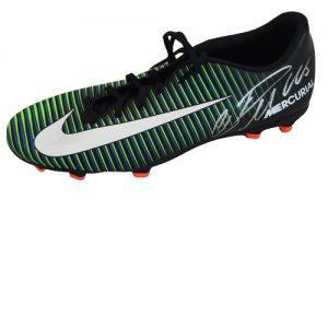 326fc7d64e63 Cristiano Ronaldo Signed Football Boot – Black Nike Mercurial Victory