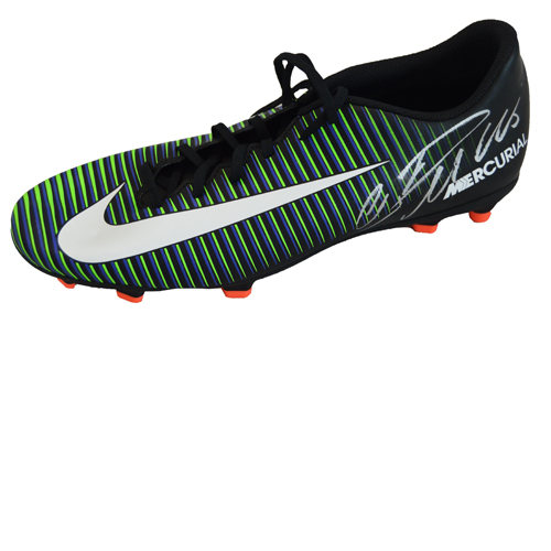 Cristiano Ronaldo Signed Football Boot – Black Nike Mercurial Victory